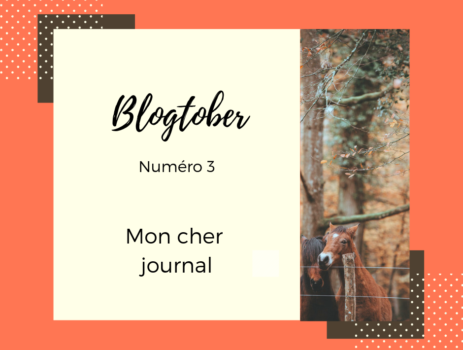 blogtober 3 journal d'un cheval