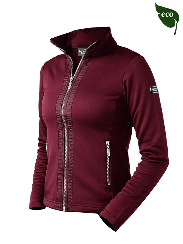 fleece-jacket-bordeaux- equestrian stockholm